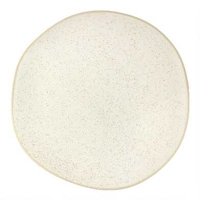 Ivory Ceramic Speckled Charger