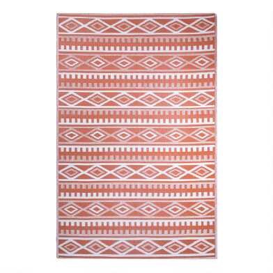 Terracotta Kilim Reversible Indoor Outdoor Rio Floor Mat