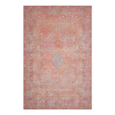 Pastel Multicolor Persian Style Indoor Outdoor Rug