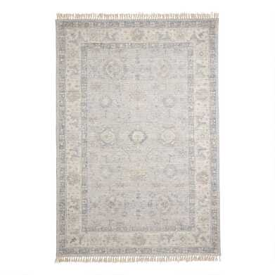 Gray Wool and Viscose Persian Style Sophia Area Rug