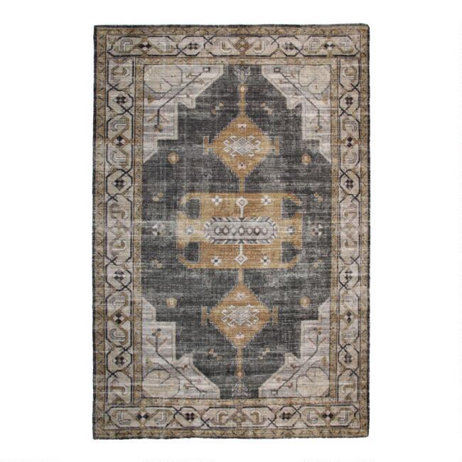 Gray And Beige Distressed Persian Style Olivia Area Rug World Market