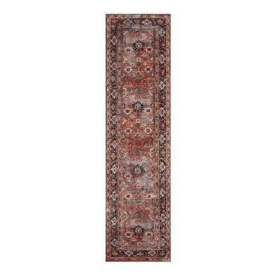 Rust Distressed Persian Style Savannah Floor Runner