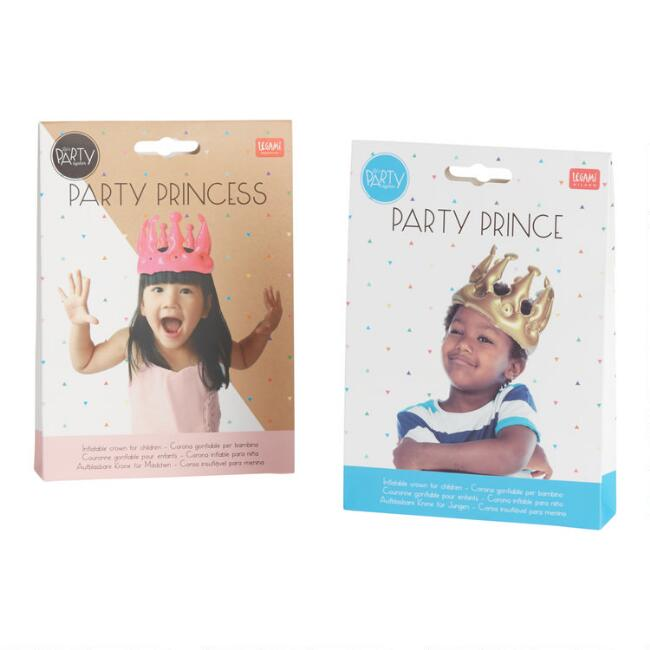 Pink And Gold Inflatable Kid Crown Set Of 2