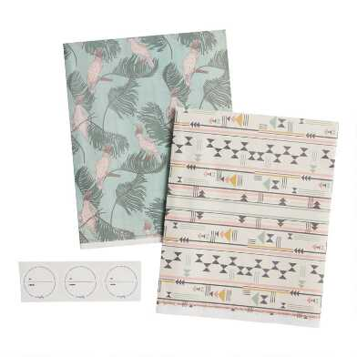 Wrappily Cockatoo and Geo Reversible Recycled Gift Wrap