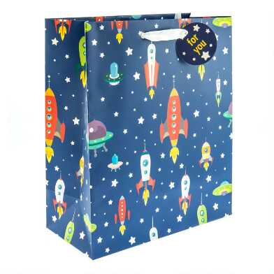 Large Rocket Ships Gift Bag