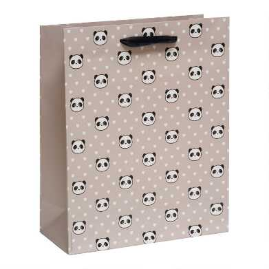 Large Panda Hearts Gift Bag