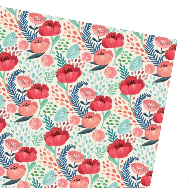 Spring Floral Wrapping Paper Roll