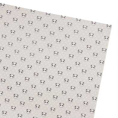 Panda Hearts Wrapping Paper Roll