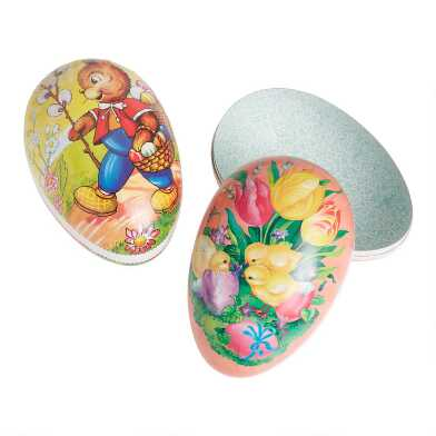 Extra Large Nestler Paper Mache Easter Eggs Set Of 2