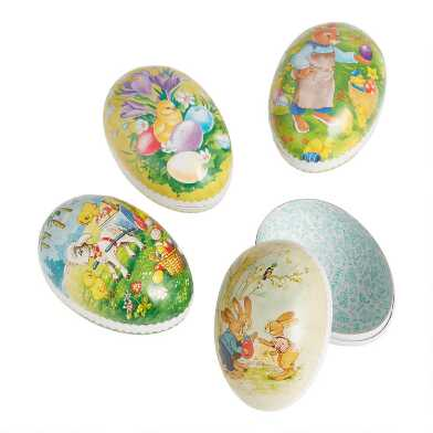 Small Nestler Paper Mache Easter Eggs Set of 4