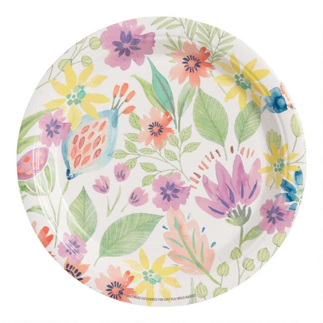Floral Posey Fields Paper Plates 8 Count