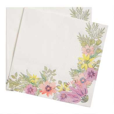 Floral Posey Fields Paper Beverage Napkins 20 Count