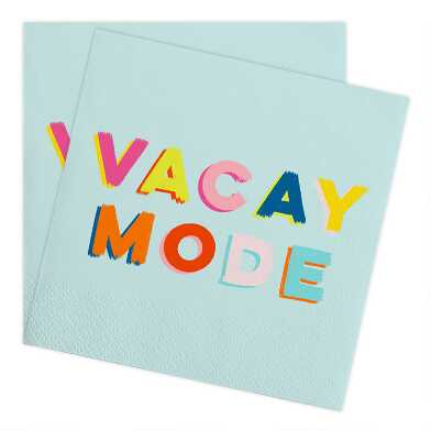 Vacay Mode Beverage Napkins 20 Count
