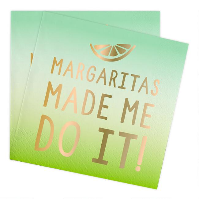 Ombre Margaritas Made Me Do It Beverage Napkins 20 Count