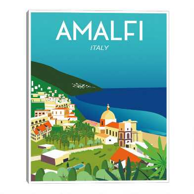 Amalfi by Omar Escalante Framed Canvas Wall Art