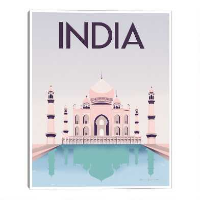 India by Omar Escalante Framed Canvas Wall Art
