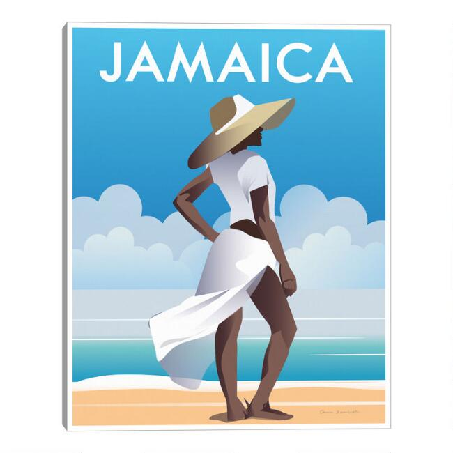 Jamaica by Omar Escalante Framed Canvas Wall Art