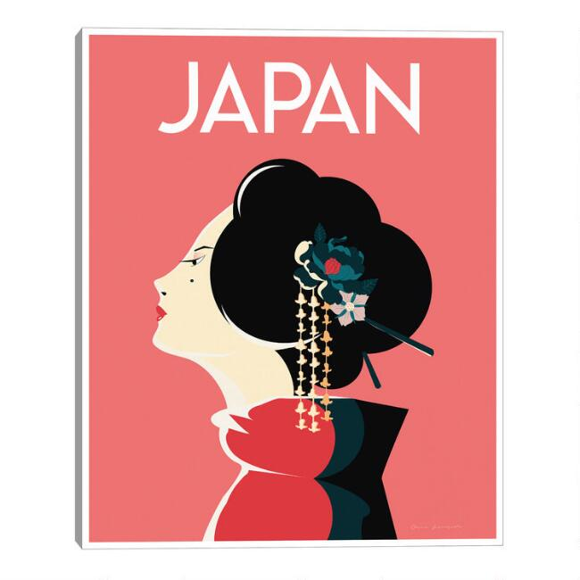Japan by Omar Escalante Framed Canvas Wall Art