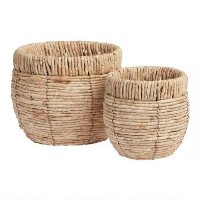 Natural Maize Woven Planter