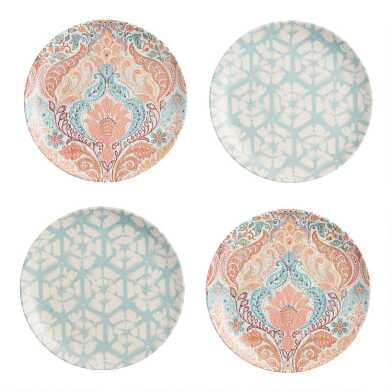 Sunshine Coast Melamine Salad Plates Set of 4