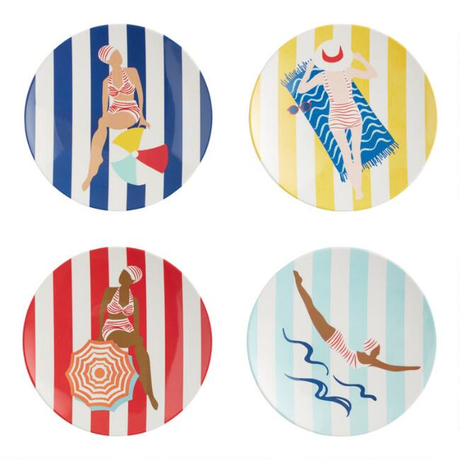 Riviera Beach Club Appetizer Plates 4 Pack