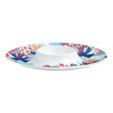 Riviera Beach Club Chip and Dip Serving Tray