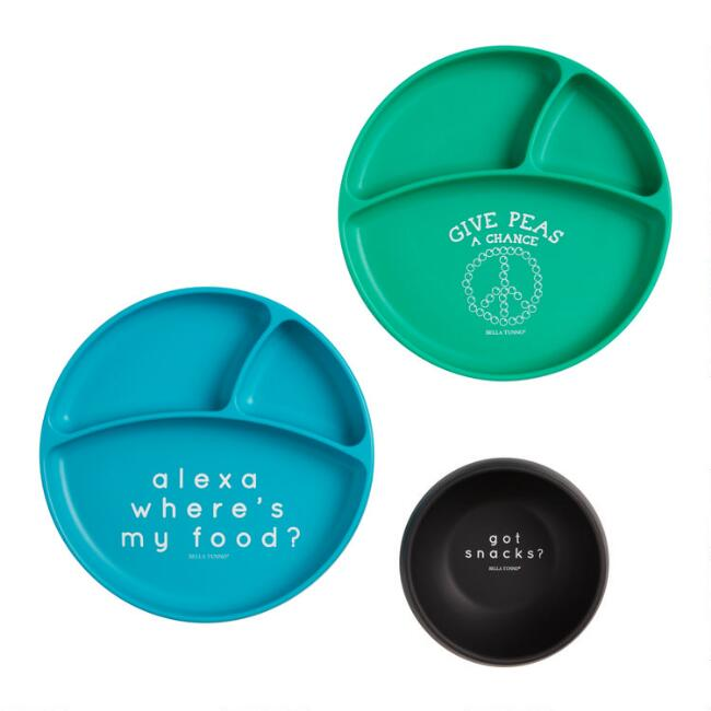Bella Tunno Silicone Kids Plates and Bowl Collection