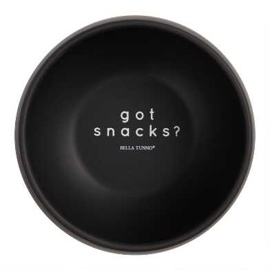 Bella Tunno Black Silicone Got Snacks Kids Bowl