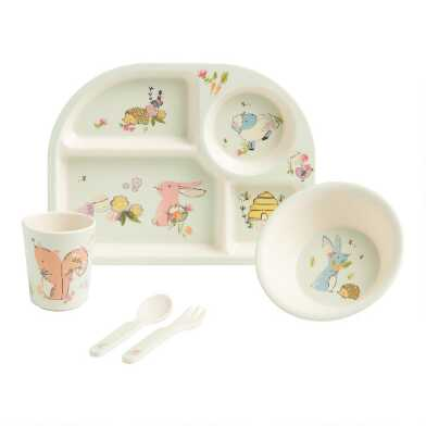 Easter Bamboo Dinnerware 5 Piece Set