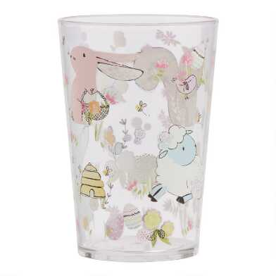 Easter Squirrel and Bunny Acrylic Cups Set of 2