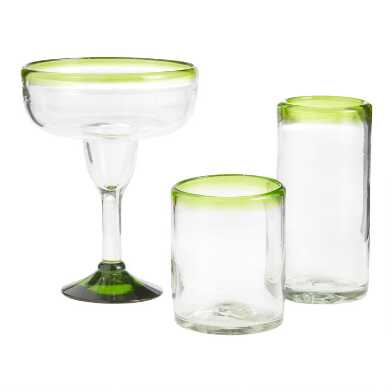 Green Rocco Glassware Collection