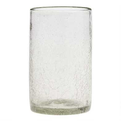 Recycled Crackled Highball Glasses Set of 4