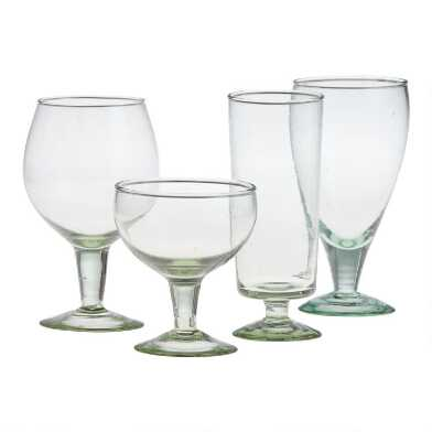 Light Green Recycled Glassware Collection