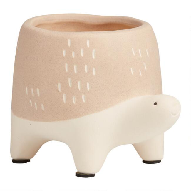 Light Brown Turtle Ivan Planter