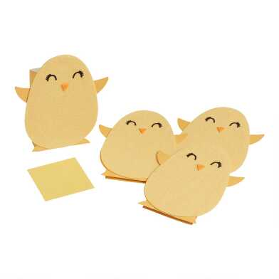 Kids Easter Chick Treat Bags 4 Pack