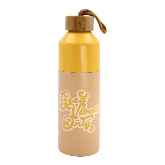 Good Vibes Only Insulated Stainless Steel Water Bottle
