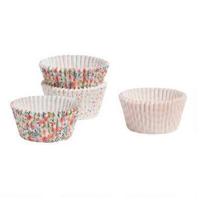 Spring Floral Cupcake Liners 75 Count