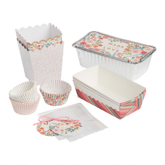 Spring Floral Paper Baking Supplies Collection