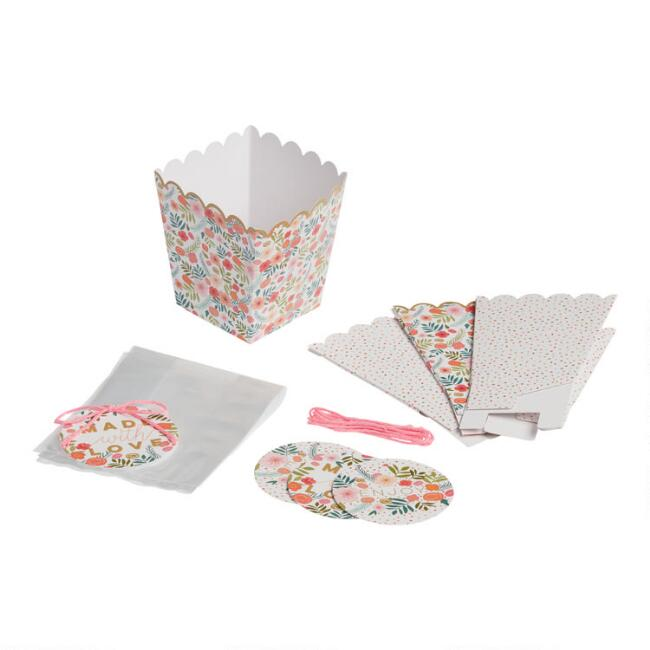 Spring Floral Treat Cup Gifting Kit 4 Pack