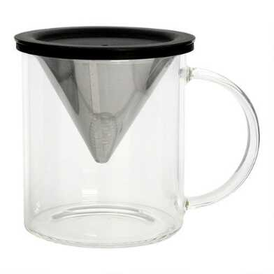 Glass Pour Over Coffee Cup and Reusable Filter Set