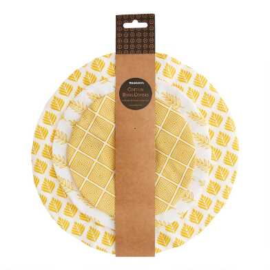 Yellow Organic Cotton Bowl Covers 3 Pack