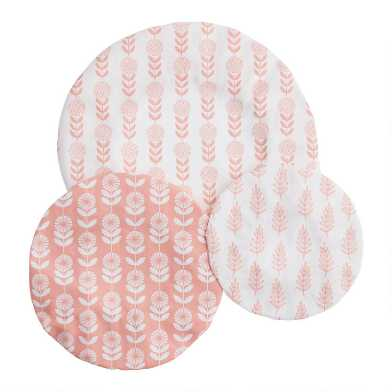 Pink Organic Cotton Bowl Covers 3 Pack