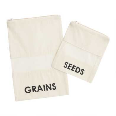 Cotton Seeds and Grains Bags 2 Pack