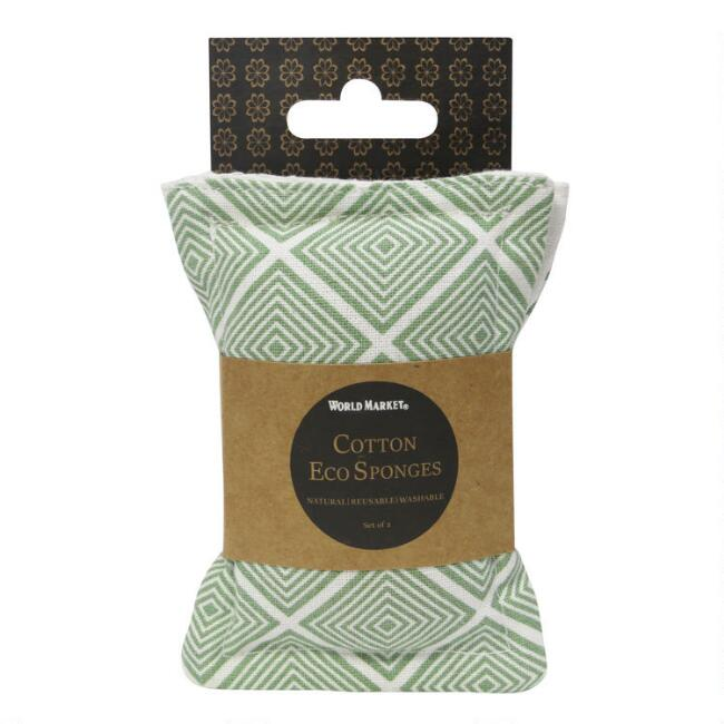 Sage Green Organic Cotton and Coir Sponges 2 Pack