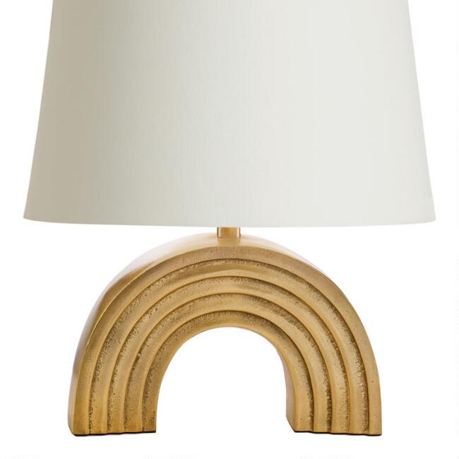 Gold Rainbow Accent Lamp Base