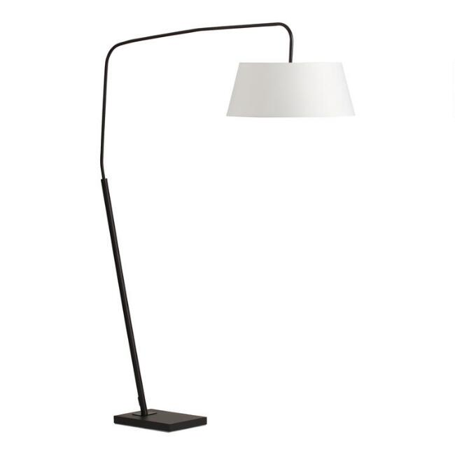 Black Metal Henry Arc Floor Lamp