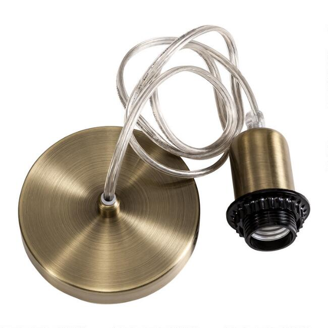 Brushed Brass Electrical Ceiling Hardwire Kit