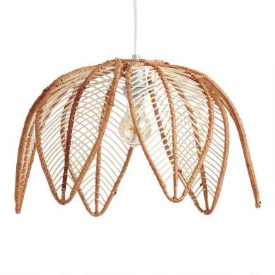 Natural Rattan Flower Avery Pendant Shade