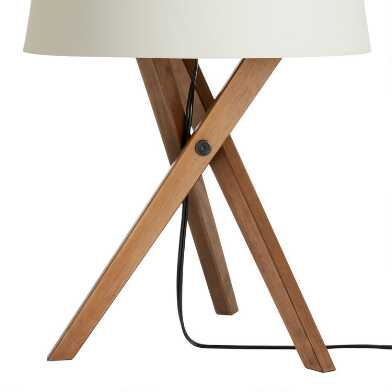 Walnut Wood Tripod Austin Table Lamp Base