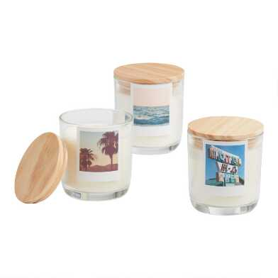 Clear Glass Photo Filled Jar Candle